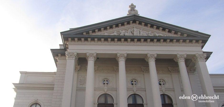 Das Oldenburger Staatstheater in schönen Theater Carree