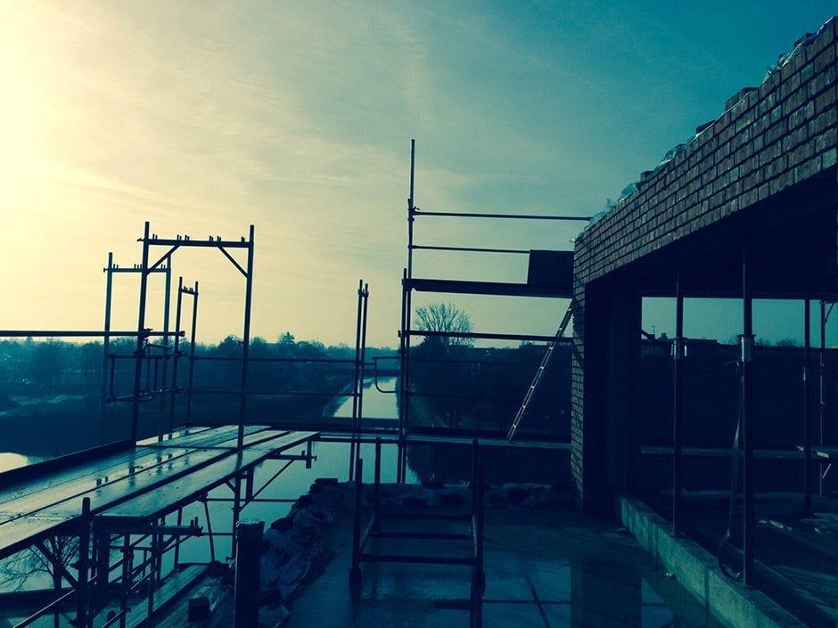 Bald zu Mieten. Die neuen Fleethöfe am alten Stadthafen kommen.