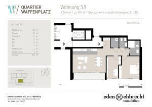 Quartier Waffenplatz, Grundriss, Wohnung, Appartement, Jetzt Mieten, Immobilienmakler, Makler, Oldenburg