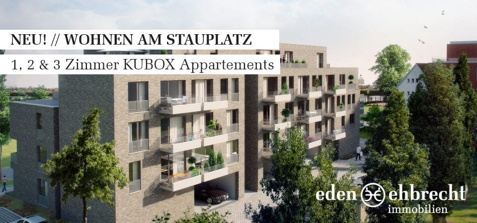 Immobilienmakler, Makler, Oldenburg, Immobilien, Exklusive Vermietung, Wohnen am Stauplatz, KUBOX Appartement, Privisionsfrei