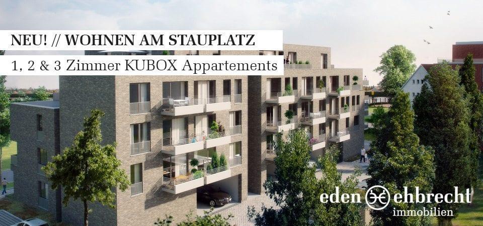 Immobilienmakler, Makler, Oldenburg, Immobilien, Exklusive Vermietung, Wohnen am Stauplatz, KUBOX Appartement, Privisionsfrei