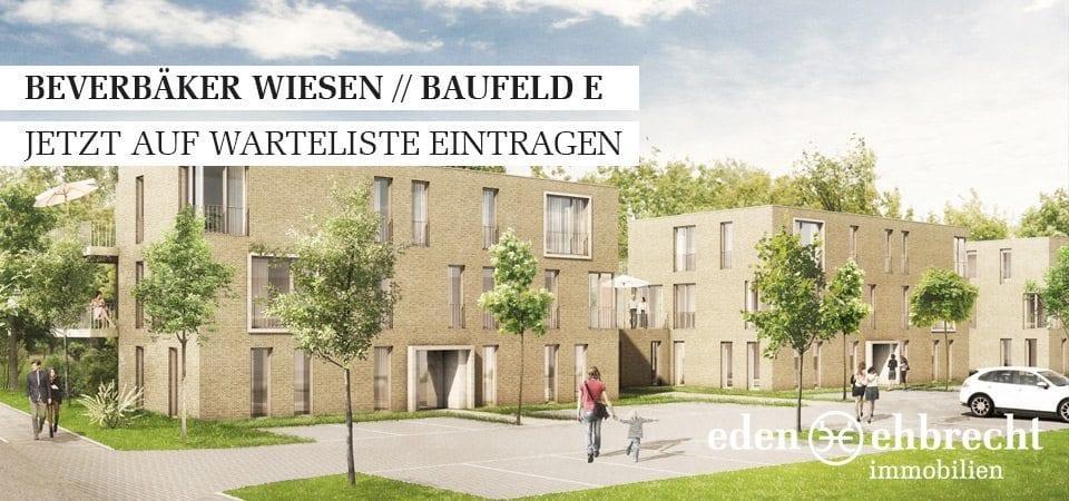 Appartements, Wohnungen, Wohnung, Miete, Mieten, Beverbäker Wiesen, Donnerschwee, Baufeld E, Donnerschwee Kaserne, stadtnah, 2-3 Zimmer, Warteliste
