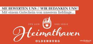 Heimathaven, Concept Store, Einzelhandel, Gastronomie, Immobilienmakler, Makler, Oldenburg, Gutschein, Dankeschön, Bewertung