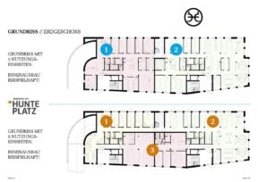 Hunteplatz, Arbeiten am Hunteplatz, Gewerbeflächen, Büroflächen, Praxisflächen, Ladenflächen, Büro, Praxis, Kanzlei, Alter Stadthafen, Oldenburg, Neubau, Immobilienmakler, Makler, Oldenburg, Büro mieten, Bürofläche mieten, Gewerbefläche mieten, Praxis mieten