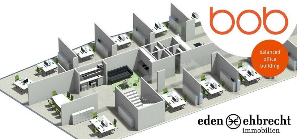 Immobilienmakler, Makler, Gewerbemakler, Gewerbeimmobilien, BOB, BOB - Balanced Office Building, KUBUS Immobilien, Alter Stadthafen, Büro, Bürogebäude, Büroflächen