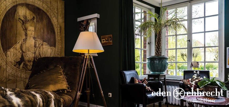 Eden-Ehbrecht Immobilien, Immobilienmakler, Makler, Verkauf, Villa, Jugendstilvilla, Wilhelmshaven, Immobilien, Haus verkaufen, Haus Kaufen, Villenviertel, Top 50 Immobilienmakler