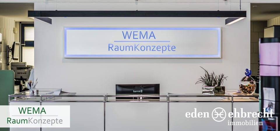 Eden-Ehbrecht Immobilien, Immobilienmakler, Gewerbemakler, Makler, Oldenburg, WEMA Raumkonzepte, Büroeinrichtungen, Bürokonzepte, Büromöbel. Kooperation