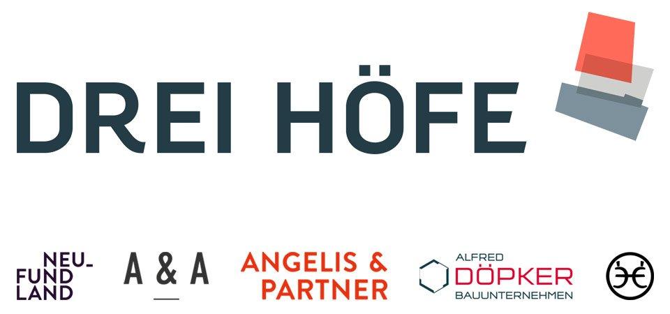 Drei Höfe, Neu_Fund Land, Aschenbeck & Aschenbeck, Alfred Döpker, Eden-Ehbrecht Immobilien Logos