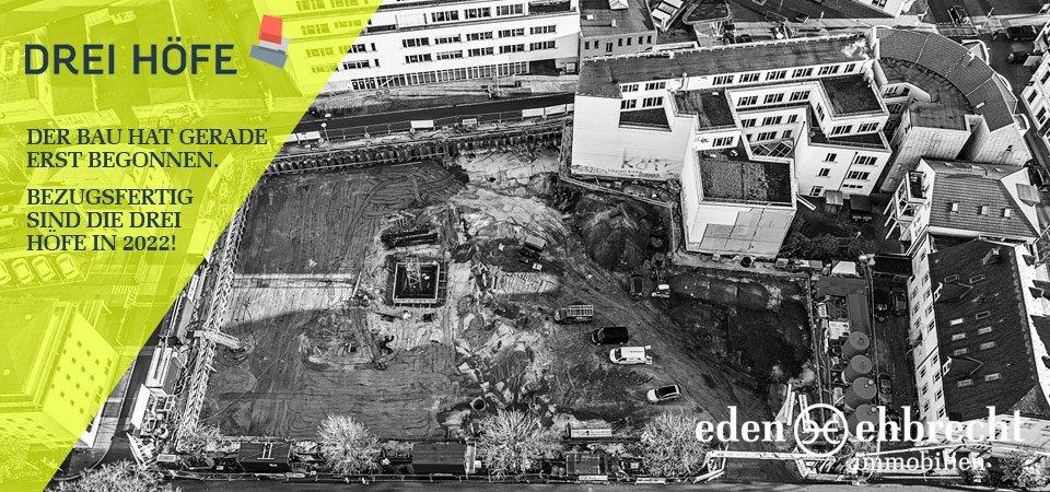 Drei Höfe, Neubau, Oldenburg, Luftaufnahme, Baustelle