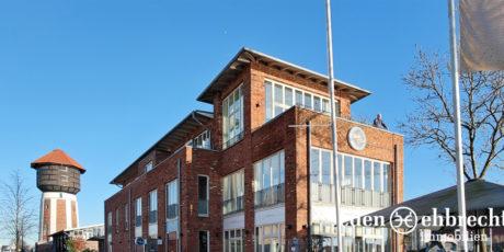 Vermietet, Bürofläche mit Wasserblick, Alter Stadthafen, Gewerbemakler