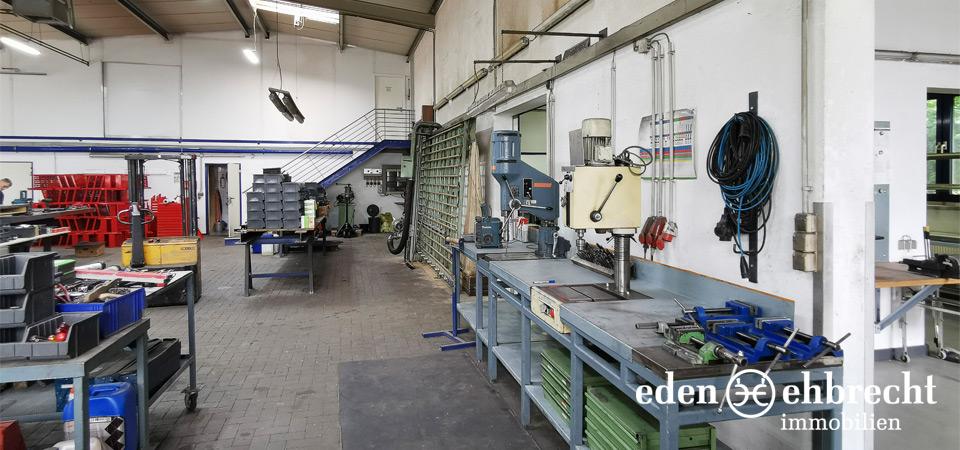 Vermietet, Produktionshalle mit Büro, Wiefelstede, Gewerbemakler